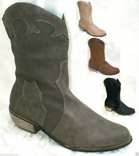 Cowboy, Western Cuban 100% Leather Upper Boots for Women
