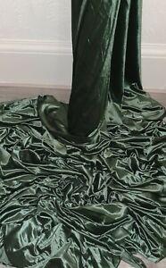 "Sage green  spandex velvet velour Fabric 58"" Wide Meter Fat Quarter Rolls"