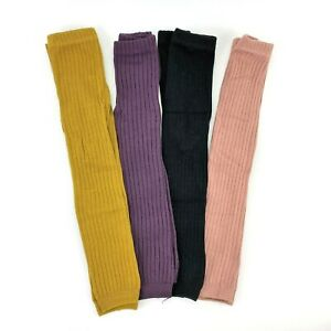 Toddler Girls Cotton Solid Ribbed Casual Footless Tights Stockings Select Colors