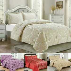 3 Piece Quilt Bedspread Throw Comforter Bedding Double King SuperKing or curtain