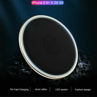 Qi Wireless Fast Charger Charging Pad Stand Dock for iPhone 11 Pro 8 Plus S9 S10