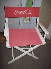 Vintage Coca Cola Directors Chair White Red Gold Medal RARE