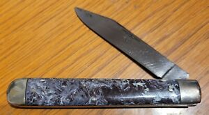 EC Simmons Keen Kutter St. Louis MO.(c1870-1940) Large Jack Knife Marble Cell-NR