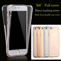 360° Shockproof Protective Full Clear Cover For Apple iPhone 7 / 7 Plus Case