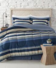 Fairfield Square 8-Piece QUEEN Comforter Set Austin BLUE Reversible