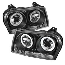 Chrysler 05-08 300 CCFL Black DRL Halo LED Projector Headlights Limited/Touring