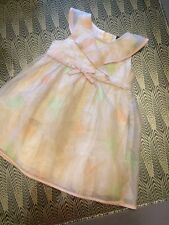 Baby GAP - Girls Dress - Age 2 years - Nude With Peach And Green - Floral VGC