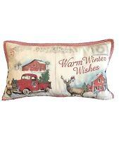 "The Prairie Postcard Decorative 14""x24"" Toss Throw Feather Holiday Pillow"