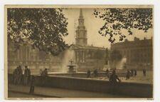 England Postcard Trafalgar Square View - London, England 1932 vtg 26