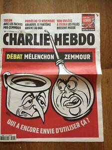 JOURNAL BD CHARLIE HEBDO 1522 debat melenchin zemmour   couv riss