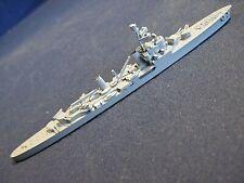 "Vintage Metal Waterline Ship Model Wwii Cruiser/battleship 6-1/2"" long"