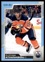 2020-21 UD O-Pee-Chee Blue Border #359 Andreas Athanasiou - Edmonton Oilers