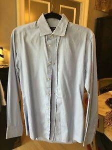 H&M Light Blue Checker Slim Fit Dress Shirt
