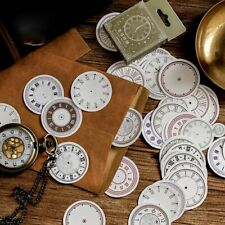 46pcs Clock Vintage Stickers Kawaii Stationery DIY Scrapbooking Diary Stickers