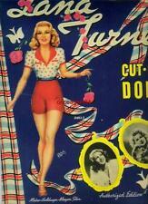 VINTAGE UNCUT 1942 LANA TURNER PAPER DOLLS~#1 REPRODUCTION~