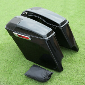 Extended Stretched Saddlebags +Speaker Cutout For Electra Road Glide 14-19 17 18