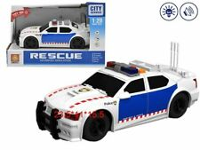 Rescue City Police Simulation Car 1:20 Scale LED Lights Sounds Pullback Toy