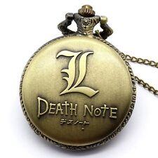Punk Skull Digital Display Death Note Pocket Watch Necklace Pendant Men's Gift