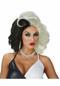 NEW California Costume Cruel Diva Wig Adult Cruella DeVille Accessory 70882