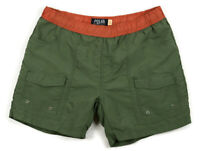 Poler Mens Duo Camp Volley Hiking Shorts Size XL Olive Nylon Lined Swim Trunks