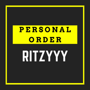 PERSONAL ORDER for ritzyyy