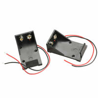 9V Volt Black Battery Clip Holder Box Case Cover with Cabl Wire Lead Wire S F7V7