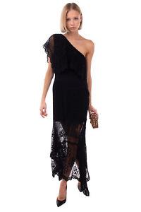 RRP €2725 ALEXANDER McQUEEN Knitted Asymmetric Hem Dress Size L One Shoulder