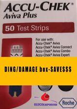 50 Accu-Chek Aviva Plus Diabetic Test Strips Exp.1/28/2019+ Ding Box SAVE$$$