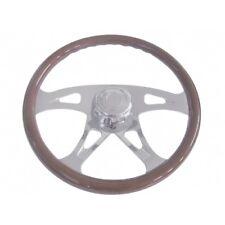 """Peterbilt 1998 - On / Semi Truck 18"""" Chrome Boss Four Spoke Steering Wheel"""