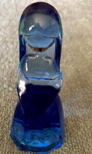 "Mosser Glass Vi Hunter Jenny Doll 4.25"" Figurine Cobalt Blue"