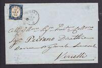 Regno di Sardegna 20 c. su lettera da Biella a Vercelli