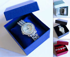 Paper Cardboard Case Bangle Bracelet Wrist Watch Jewelry Present Gift Box 3color