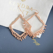 Kendra Scott Lacy Dangle Charm Earrings in Rose Gold Plated New with bag