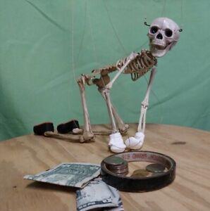 "SKELETON MARIONETTE Skeleton Puppet 18"" - WITH 8-Strings & CONTROLLER"