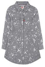 NWT Levi's L 12 13 Stars Denim Shirt Dress Long Sleeve Back to School Girl's