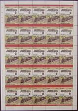 1952 BR Standard 76000 Class 4 2-6-0 Train 50-Stamp Sheet (Leaders of the World)