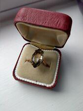 9ct gold 1960s Smokey Citrine Ring
