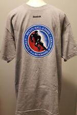 REEBOK Hockey Hall of Fame Le Temple De La Renommee T-Shirt Men's Size L Gray