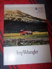 A7 - Prospekt/Prospectus/Brochure/Catalogue Renault Jeep Wrangler 1992