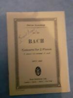 N°731 - Concerto For 2 Piano - Johan Sebastian Bach - Edizione Eulenburg