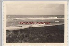(F10573) Orig. Foto Nordsee, Wellen am Strand 1939