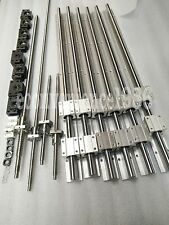 2xSBR20-350/1000/1500mm guides&ballscrew RM1605-350/1000/1500/1500mm+BK/BF12 kit