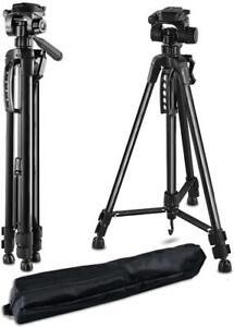 Professional Tripod Stand Pan Head for DSLR Camera Flexible 140cm Holder Bag
