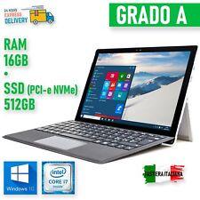 "PC Convertible Microsoft Surface Pro 4 i7 6650U 12,3"" Touchscreen 16GB 512GB"