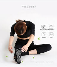 4 Pairs High Quality Yoga& Pilates 5 Toe Non-Slip Full Grip Cotton Finger Socks