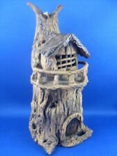 Signed SMITH 1992 Abstract FARAWAY TREE Style Pottery Tealight Candle Holder Au