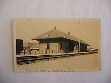 Not Real Photo Postcard RPPC MK&T Railroad Depot Eufaula Oklahoma OK 1925 #1345