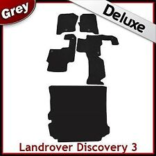 Landrover Discovery 3 Tailored LUXURY 1300g Car + Boot Mats 1 Clip GREY