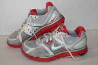 Nike Lunarglide + Running Shoes, #366645-018, Grey/Red/Silver,  Women's US 6.5