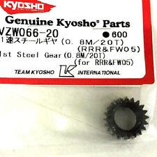 RICAMBIO KYOSHO VZW066-20 1ST STEEL GEAR 0.8M/20 DENTI (RRR&FW05) PIGNONE